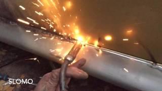 Svařování CO2 Oprava prahu osobního automobilu