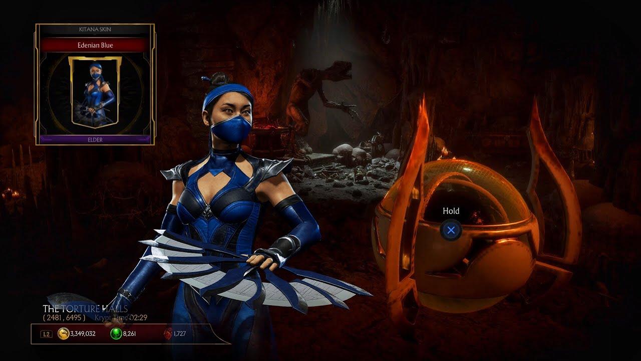 Mk11 Krypt Event 3 Edenia Blue Kitana Skin Youtube