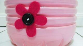 DIY : #109 Floral Dustbin ♥