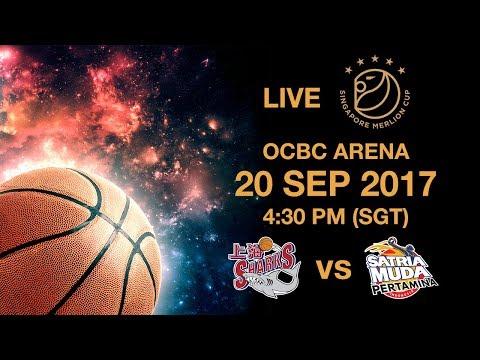 Basketball 🏀 Shanghai Sharks 🇨🇳 vs 🇮🇩 Satria Muda Pertamina | Singapore Merlion Cup 2017