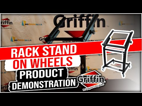 Griffin Studio Rackmount Mixer Stand With Casters Product Review And Demonstration Model WS993