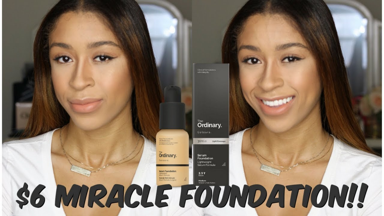 Best Foundation Ever The Ordinary Serum Foundation First Impression Demo Youtube
