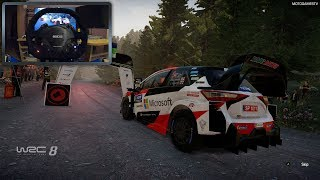 WRC 8 Gameplay with Thrustmaster TS-XW Racer Sparco P310 Wheel [WheelCam]