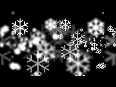 無料 動画素材 雪の結晶 左右奥へ 白 黒