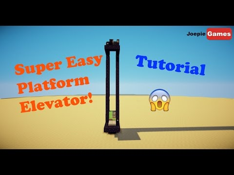 minecraft how to make an item elevator