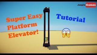 Minecraft 1.11/1.12 Super Easy Platform Elevator tutorial