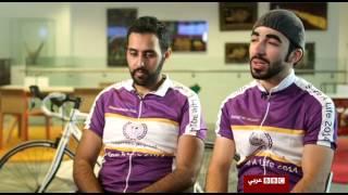 """مقابلة وفاء زيان في برنامج أنا الشاهد مع شباب مبادرة """"من اسكتلندا الى سوريا على دراجة"""""""