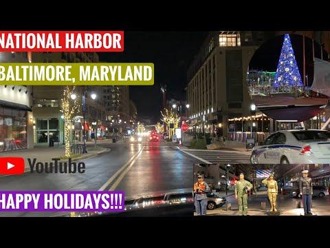 National Harbor   Baltimore   Maryland   Happy Holidays   Nadeem Jilani Vlogs