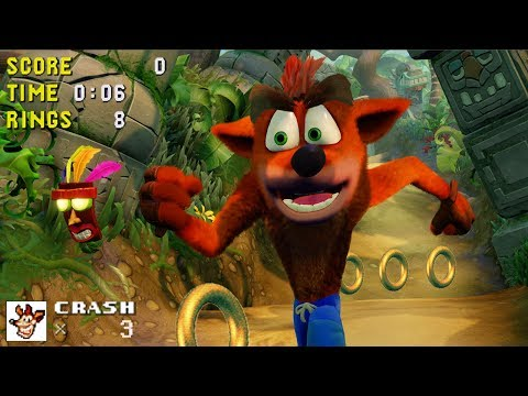 Crash Bandicoot but Every Sound Effect is From Sonic the Hedgehog