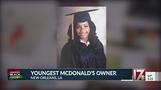 Honoring Black History: Meet the youngest McDonald's owner