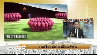 ช่วงข่าวข้นคนสำคัญ  สารสกัดจากพืชไทยพิชิตมะเร็งร้าย