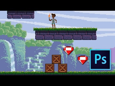 Pixel Game Art Animated Background Tutorial in Photoshop