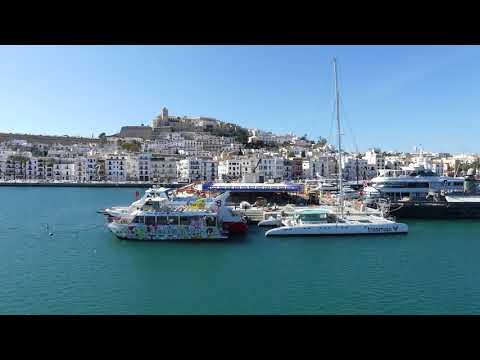 4k Ibiza harbour