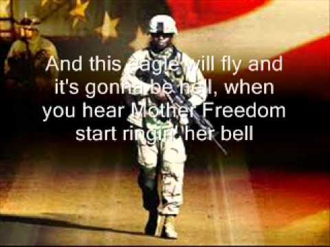 Courtesy of The Red white and blue - Toby Keith with lyrics on screen