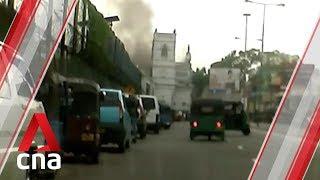 Moment blast hits Sri Lanka church