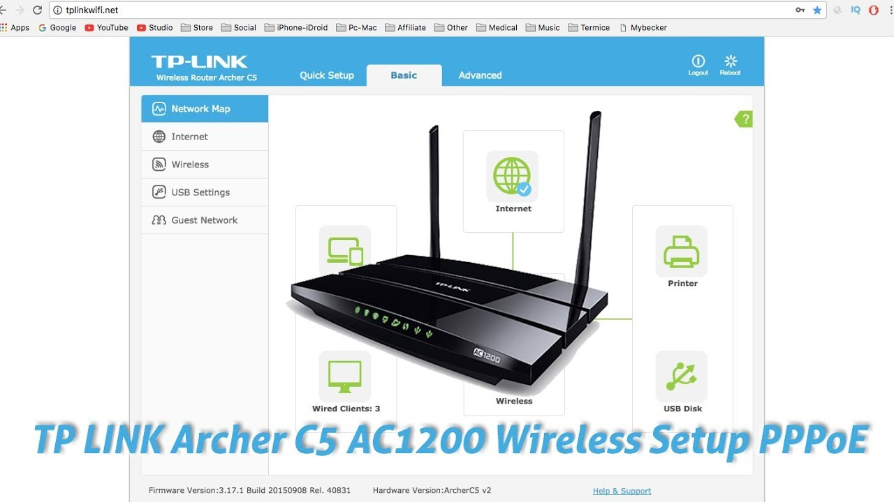TP LINK Archer C5 AC1200 Wireless Setup PPPoE ✅