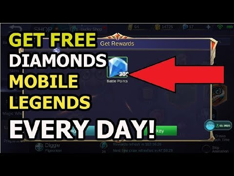 Mobile Legends GET FREE DIAMONDS SCRIPT LEGIT 100% NO PASSWORD!!