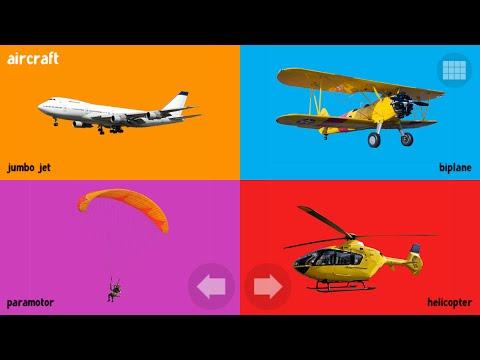 Мультфильм про Самолёт и другой воздушный транспорт на английском языке. Aircraft.