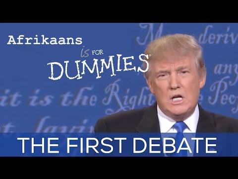 Trump Clinton Debate 2016 - in Afrikaans Accents