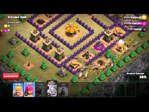 Clash Of Clans - How To Beat Kitchen Sink With Barch