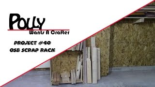 Osb Scrap Wood And Sheet Goods Rack