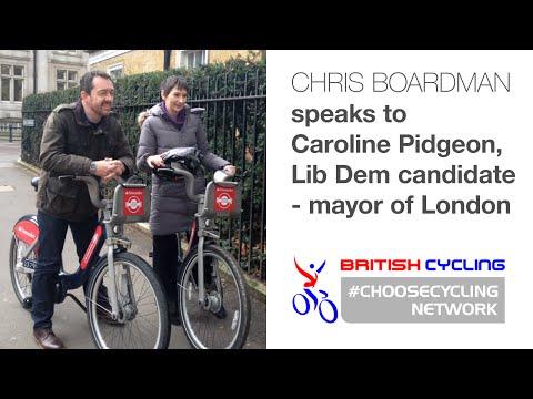 Chris Boardman meets Caroline Pidgeon, the Liberal Democrat candidate for mayor of London