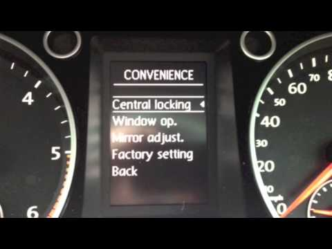 "VW auto door lock & unlock function - ""How to"" set up"