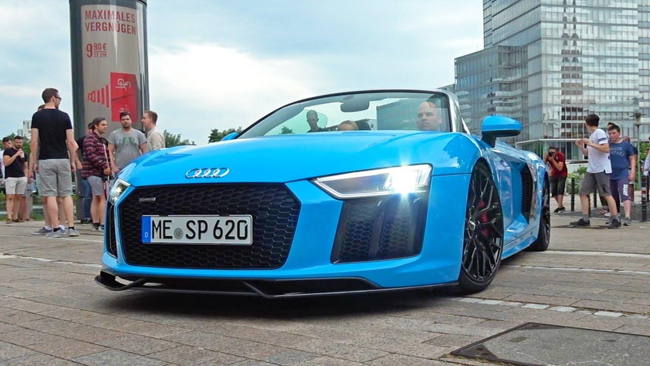 Audi R8 V10 Plus Coupe & Spyder INVASION! LOUD Exhaust SOUNDS!
