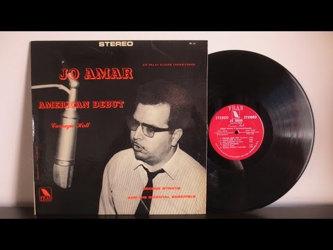 Jo Amar With George Stratis And His Oriental Ensemble – American Debut  (1965)  Moroccan Sephardic