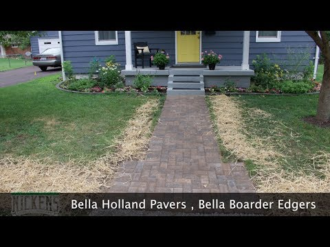 Installing a Paver Walk Way and Brick Flower Bed Edging | FAST and Easy