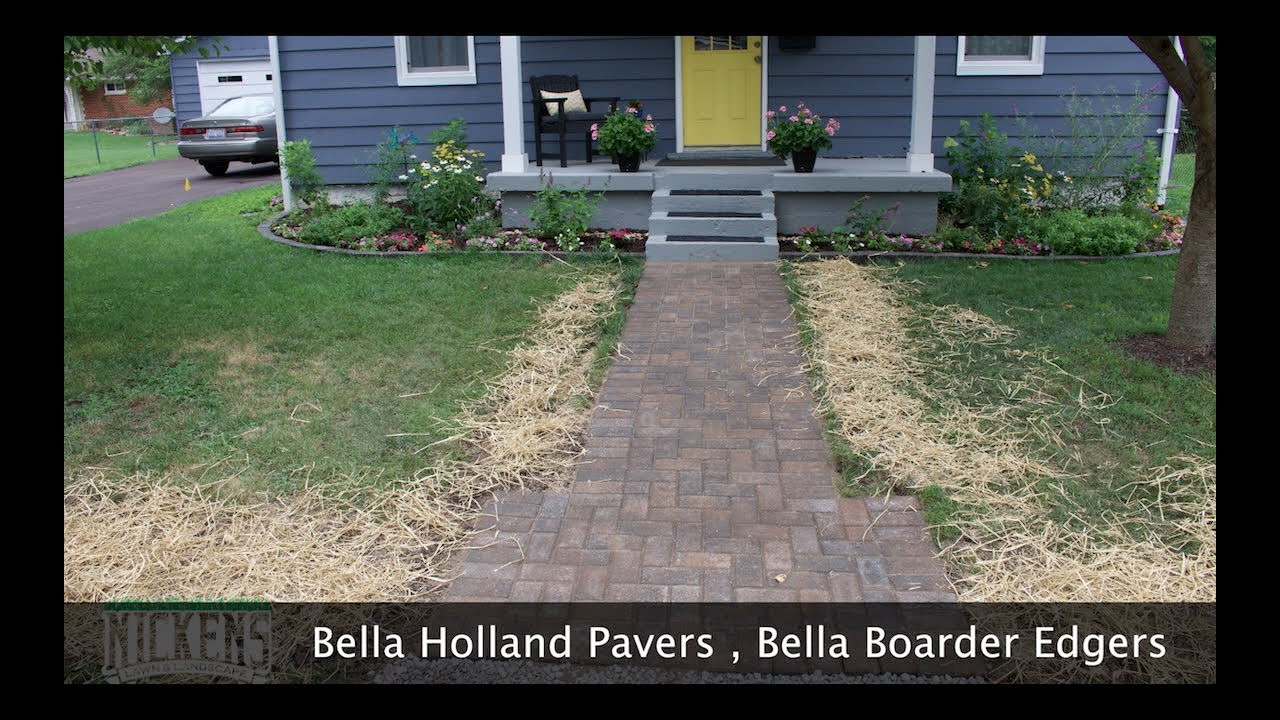 Installing A Paver Walk Way And Brick Flower Bed Edging Fast And
