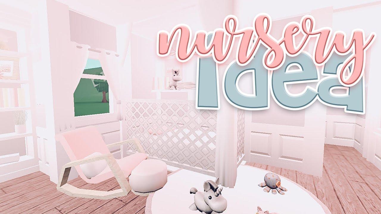 Bloxburg Blush Nursery Speed Build | Bloxburg Aesthetic Nursery Ideas | Bonnie Builds - YouTube