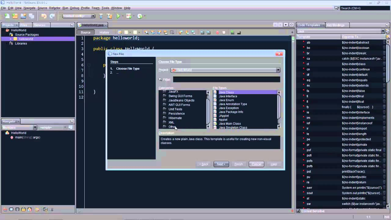 Code Templates in NetBeans IDE - YouTube