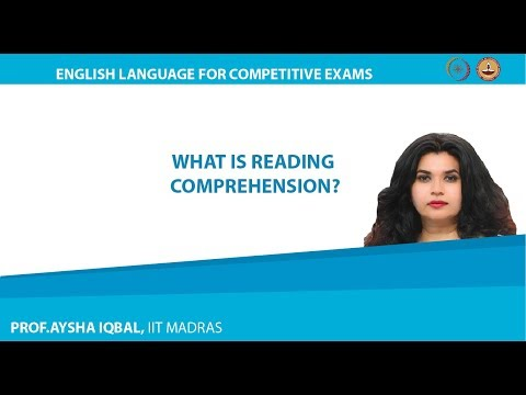Module One - Lecture 01 - What is Reading Comprehension?