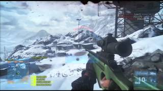 Battlefield 3 Sniping on Alborz Mountain (TDM/Gameplay)