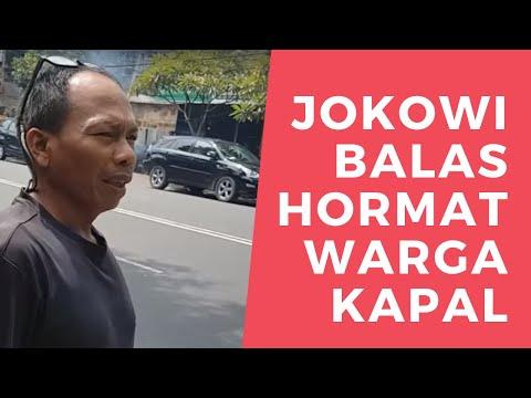 TERHARU 😢 TAK DISANGKA JOKOWI BALAS HORMAT WARGA KAPAL