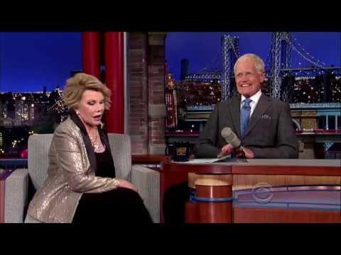 Joan Rivers on Late  wDavid Letterman 7814