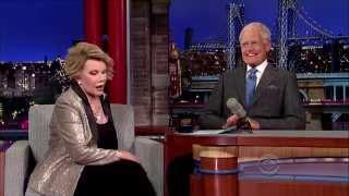 Joan Rivers on Late Show w/David Letterman 7-8-14