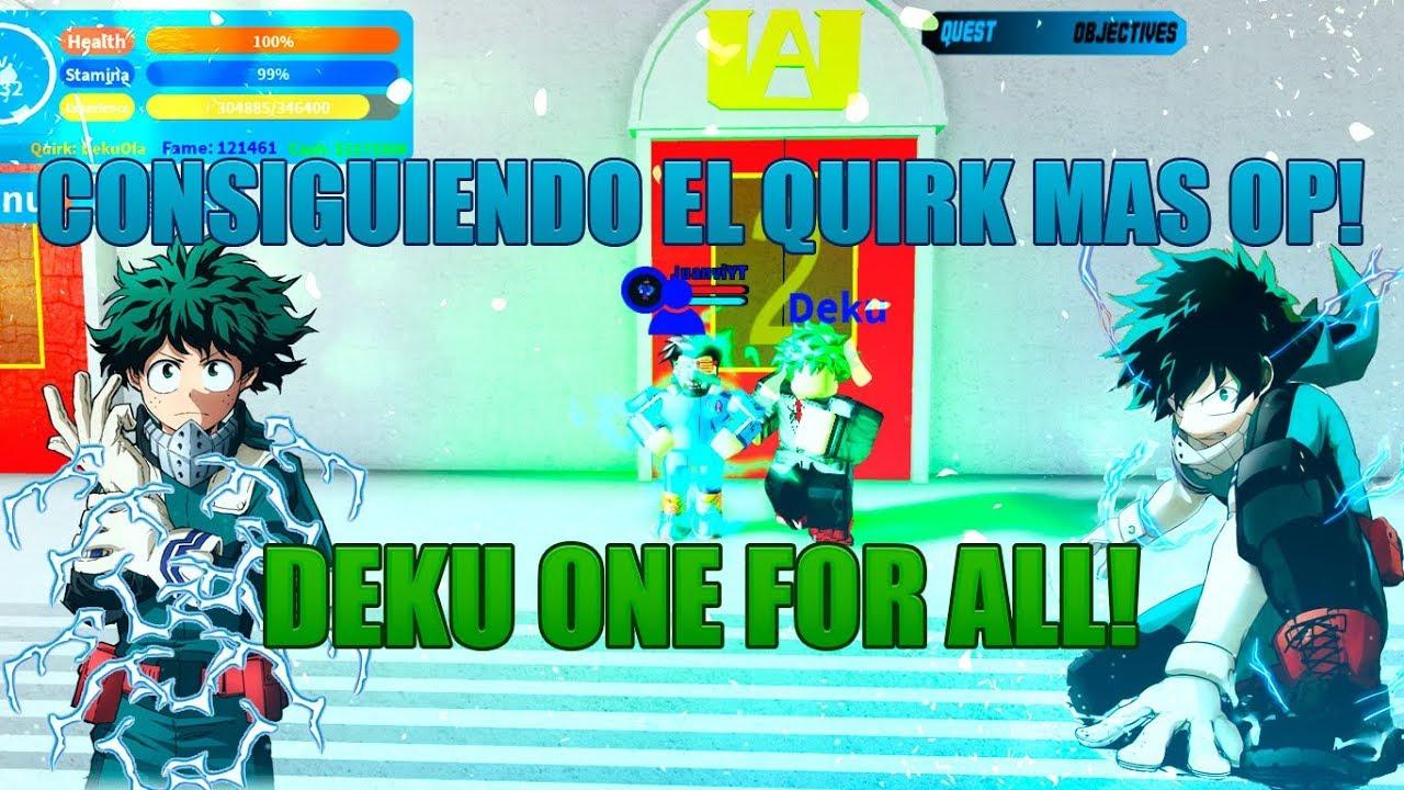 CONSIGUIENDO EL DEKU ONE FOR ALL EL QUIRK MAS ROTO EN EL JUEGO - BOKU NO  ROBLOX:REMASTERED