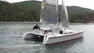Merlin catamaran by Woods Designs
