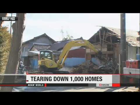 Nuclear Watch:1,000 homes in Fukushima Prefecture will be demolished  2/12/2015