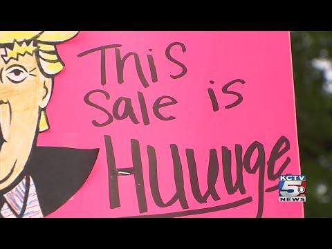 Creative garage sale signs bring in customers to Independence neighborhood