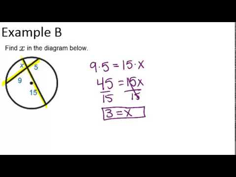 Segments From Chords Examples Geometry Concepts Youtube