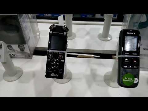 MP3 плееры и диктофоны в магазине. Sony тоже есть.
