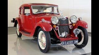 Riley Kestrel Light Saloon 1934 -VIDEO- www.ERclassics.com