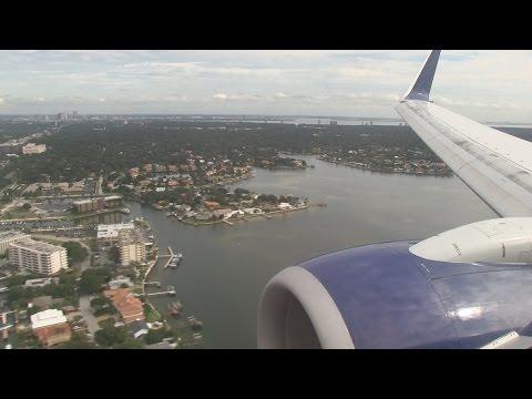 Delta Airlines B737 Landing Tampa International Airport