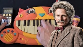 EDVARD GRIEG - IN THE HALL OF THE MOUNTAIN KING ON A CAT PIANO AND A DRUM CALCULATOR