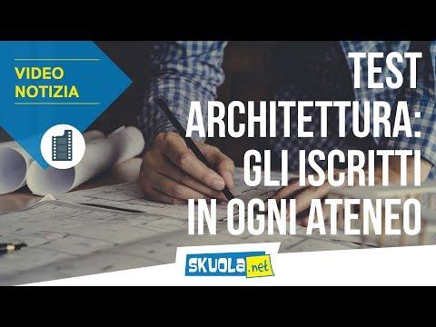 Test Architettura 2018: gli iscritti in ogni ateneo