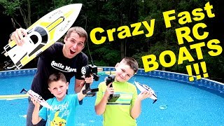 OUT OF CONTROL RC BOAT ACTION! lesson learned.....