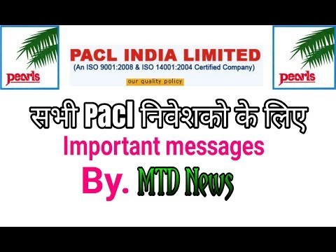 Important message to all Pacl Investors by. MTD News